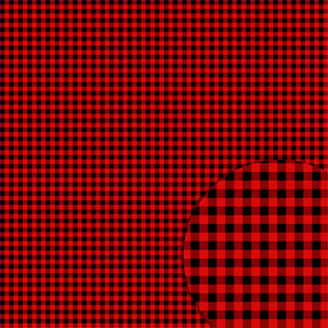 plaid black red pattern