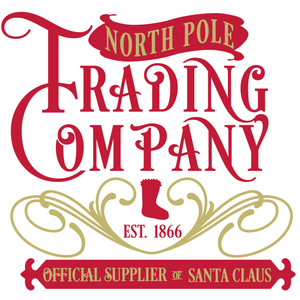 north pole trading company sign