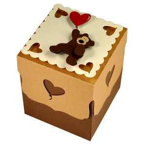 valentine teddy gift box