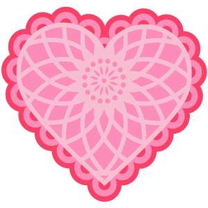 layered heart doily