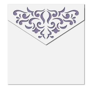 damask square envelope