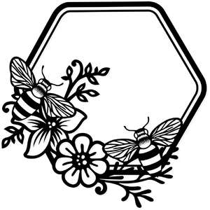 floral honey bee hive frame