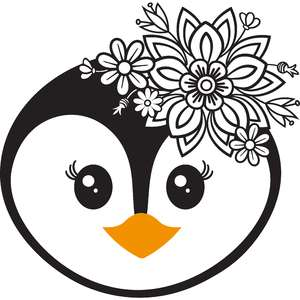 floral penguin face