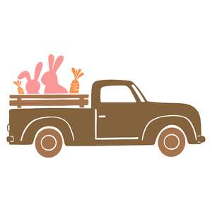 truck with bunnies and carrots