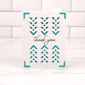 a2 insert card tuck fold thank you