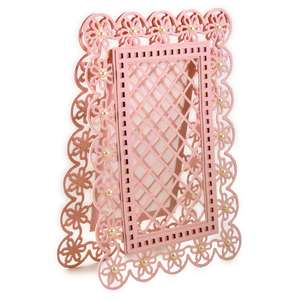 floral lattice frame 5x7 card