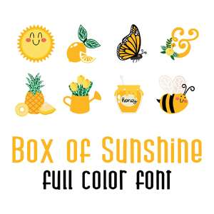 box of sunshine full color font