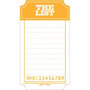 ticket: list