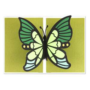 5x7 pop up butterfly card