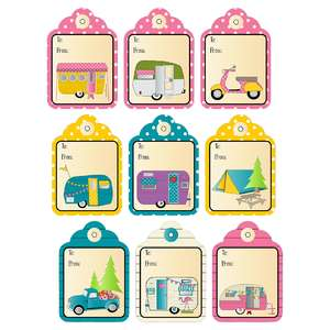 camping gift tags