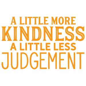 a little more kindness a little less judgement