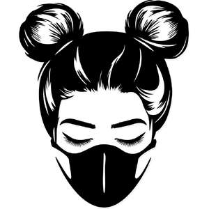 space buns face mask