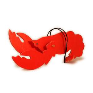 lobster 3d pivot claws ornament