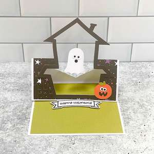 floating easel card haunted house