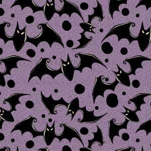 halloween bats pattern with fabric texture