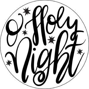 o holy night round ornament