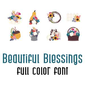 beautiful blessings full color font