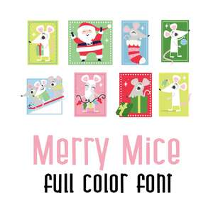 merry mice full color font