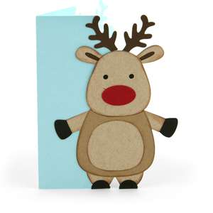 a2 christmas card reindeer