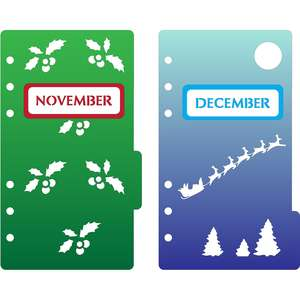 6-ring a6 binder november & december dividers