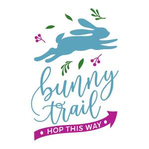 bunny trail easter sign