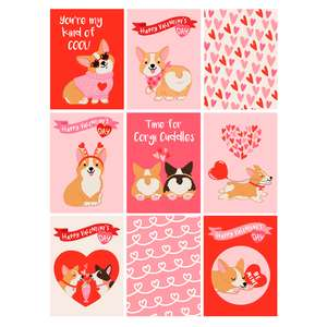 corgi valentine's day cards