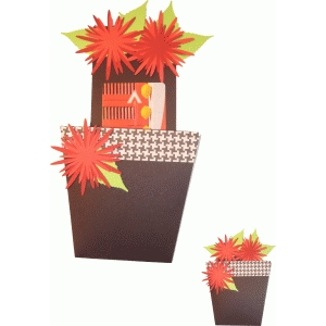 flower pot gift card holder