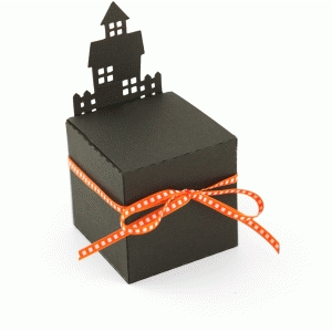 3d haunted house favor box