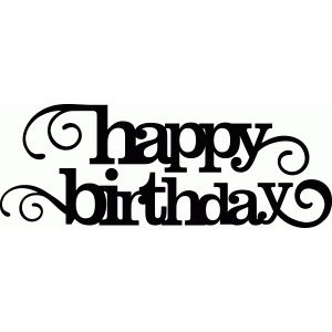 'happy birthday' flourish phrase