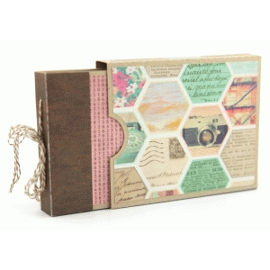 5x4 mini album with box