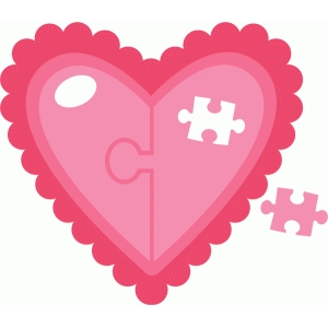 heart with puzzle piece