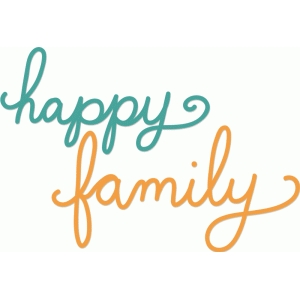 silhouette design store view design 57549 happy family word art