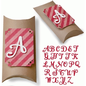 fancy alphabet pillow box