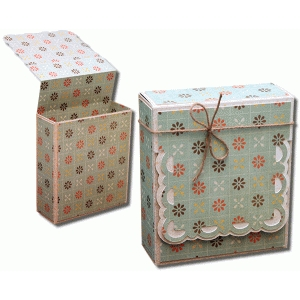 3d square label flap over gift box