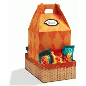 gable box with candy bar crate