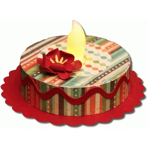 3d birthday cake tealight