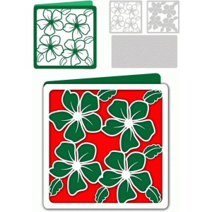 christmas flowered card
