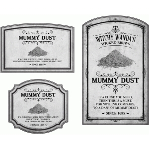 potion label mummy dust