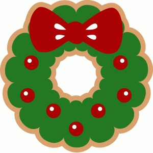 wreath cookie