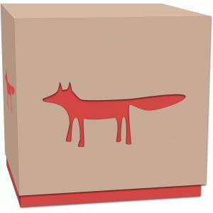 fox treat box with lid