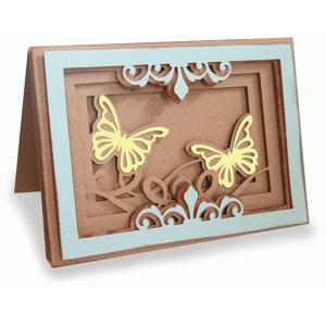 butterfly shadow box folded card