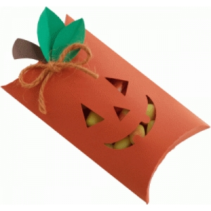jack-o-lantern pillow box