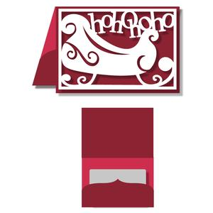 gift card holder - santa sleigh