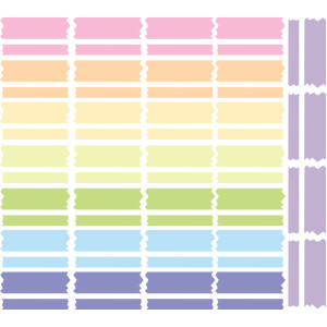 pastel washi tape stickers