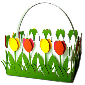 tulip picket fence basket