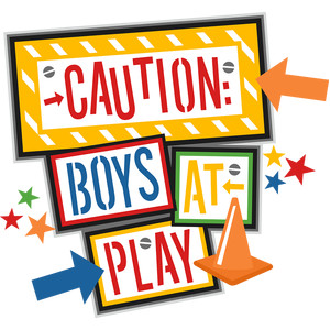 caution boys at play
