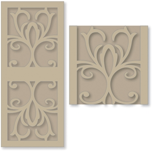 decorative gate card overlays