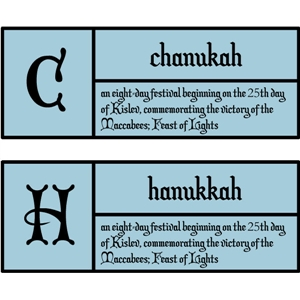 c is for chanukkah pc