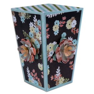 pop-out flower popcorn box