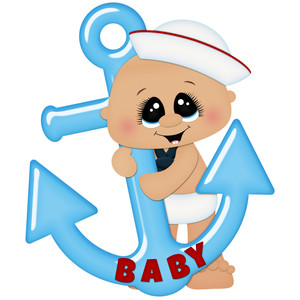 baby boy sailor with anchor